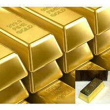 Creative 1kg 35oz Gold Bar Bullion Door Stop Paperweight Heavy Brick U