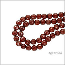 20 Cubic Zirconia Round Faceted Beads ap. 3mm Garnet Red #64616