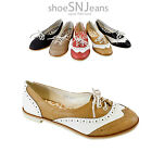 New Women Classic Dressy Loafer Lace Up Slip On Wingtip Oxford Flat Heel Shoes