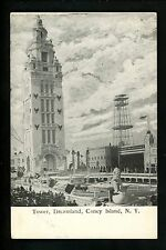 Amusement Park Vintage postcard Coney Island, NY Dreamland Tower