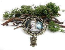 Athena Goddess of The Owl vintage pagan fairy bronze necklace mythical jewellery