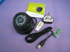Dome IR Night Vision CCTV Security Camera Micro SD/TF Card Slot DVR Home Shop