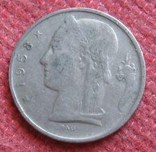 Moneta da 5 Franchi del Belgio - anno 1958 -   n 975
