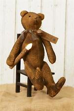 Primitive new grungy decor Teddy bear with led candlestick / nice decor bear