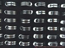 US SELLER |36 rings stainless steel men's rings band rings wholesale bulk lot