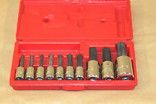 "Proto 4968PB long hex socket bit set - 1/8"" - 5/8"" 118069-2"
