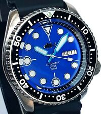 Vintage mens watch SEIKO diver SKX mod 7S26 w/Ltd BLUE Mother Of Pearl TUNA dial