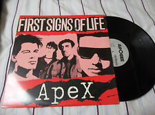 Apex ‎– First Signs Of Life LP Apogee Records ‎– APO-A1001 look