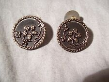 Very Vintage COPPER COLORED Cuff Links - Nature - Flowers - VERY UNUSUAL !