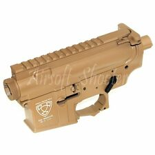 Airsoft Accessories APS Logo Upper & Lower Metal Body for M-Series Brown
