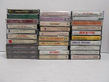 ONE LOT OF 30 CASSETTE TAPES - A VARIETY OF ARTISTS, GENRES AND BIG BAND MUSIC