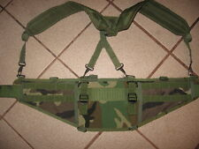 MOLLE woodland belt and Y Suspenders Hiking Airsoft flexible carry system
