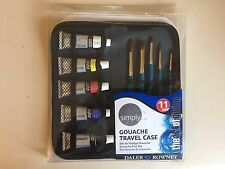 Daler Rowney Simply Gouache Travel Case Paint and Brushes