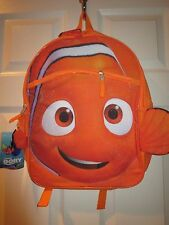 """Finding Dory 16"""" Backpack Orange Nemo Fish Lunch Book Carrier Tote Bag"""