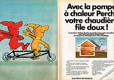 PUBLICITE ADVERTISING 104  1982  EDF la pompe à chaleur PERCHE ( 2p)