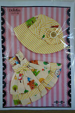 * WOW! DOLLYKISS YELLOW STRIPE HUMPTY DUMPTY DRESS SET * BLYTHE * PULLIP * NEW *