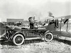 Flapper girl 1920 Studebaker Car and airplane antique photo