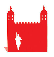 Red Tower of London Landmark Bookend by Susan Bradley