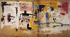 "Jean-Michel Basquiat ""Per Capita"" HD print on canvas large wall picture 43x24"""