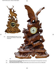 Stein Auction Catalog Mettlach Swiss Wood Carvings Clocks Regimental Stoneware