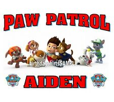 NEW PERSONALIZED PAW PATROL T SHIRT BIRTHDAY PARTY FAVOR TEE CHRISTMAS GIFT