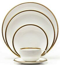 Wedgwood Plato Gold 5 PC Place Setting ~ NWT ~ Fine Bone China ~ FREE EXP SHIP!