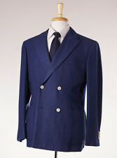 NWT $4495 D'AVENZA Royal Navy Blue 100% Cashmere Jersey Blazer 40 R Sport Coat