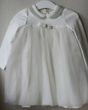 MONNALISA CHIC BABY IVORY TULLE DRESS 36 MONTHS