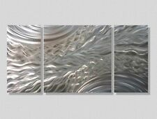 Silver Modern Metal Wall Sculpture Contemporary Home Accent