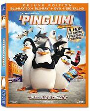 Blu Ray I PINGUINI DI MADAGASCAR (3D) (Blu-Ray 3D+Blu-Ray+Dvd) ....NUOVO