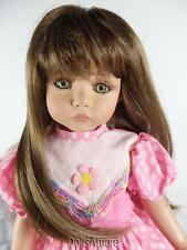 """LONG LIGHT BROWN DOLL WIG SIZE 7/8"""" FITS VINTAGE AND MODERN DOLLS"""