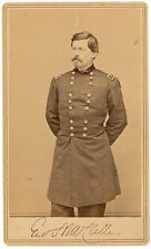 George B. McClellan CDV Photo Signed - Civil War - Great Autographed Image