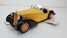 CMC AUDI 225 FRONT ROADSTER, 1935 BLACK/YELLOW 1:18