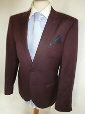 BNWOT NEW MENS NEXT MAROON SLIM FIT AUTUMN FALL SUIT JACKET 40 S WAIST 36 LEG 32