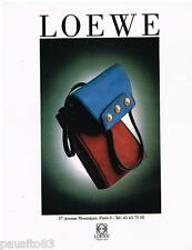 PUBLICITE ADVERTISING 095  1992  LOEWE   sacs maroquinerie de luxe