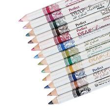 12pz Caldo Glitter Ombretto Matita Eye Liner Per Le Labbra Trucco Cosmetici Set