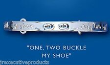 Sterling Silver 1-2-Buckle My Shoe Adjustable Childs Bangle 3-7 years Hallmarked
