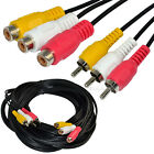 6ft 10ft 15ft 35ft 3RCA male to female Audio Composite extension Video Cable DVD