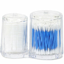 Modern Faceted Acrylic Combined Cotton Ball Swabs Cotton Pad Dispenser Holder