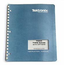 Tektronix 7b80 time base operators Manual, uso istruzioni, 7000er