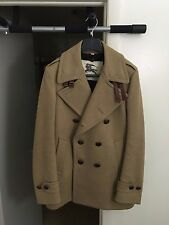 Authentic BURBERRY LONDON Men's Wool Pea Coat Euro Size 48 US Sz 38