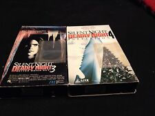 SILENT NIGHT DEADLY NIGHT 3-4 Rare (2) VHS Horror YUZNA Gore SCREAMING MAD