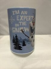 "Disney Frozen Olaf ""I'm An Expert On The Snow"" Piggy Coin Tin Can Money Bank"