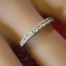 SILVER second hand stone half eternity ring