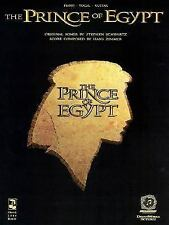 Piano/Vocal/Guitar Format: Prince of Egypt Songbook Sheet Music Song Book