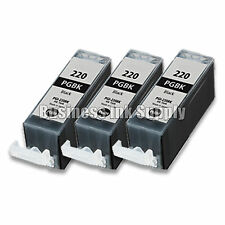3 PGI-220 BLACK PGI220BK PGI 220 Ink Canon Pixma MP560