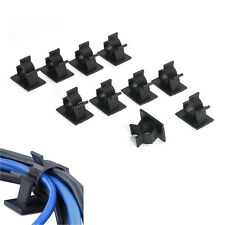 Newest 10 Self-Adhesive Convenient Cable Organiser Clip for Management Cord Wire