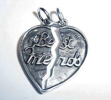 Anhänger Kette Herz BEST FRIENDS ECHT 925 Silber Modeschmuck Liebesbeweis SS144