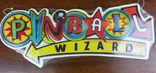 Pinball Wizard Embosed Metal Decor Bowling Man Cave Vintage Look Arcade pin Home