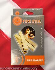 Firestix fire starter tinder12pk survival emergency bugoutbag prepper UST GIFT